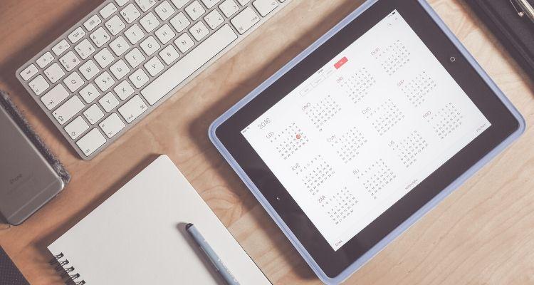 financial management calendar - blog image
